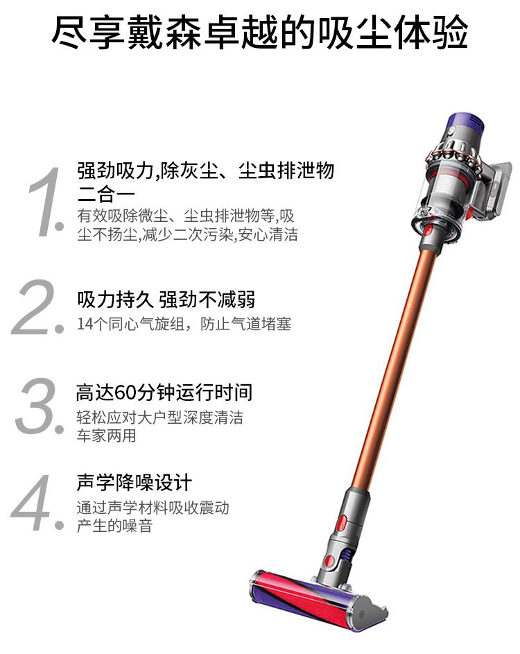 戴森 DYSON V10 Fluffy 家用手持无线大功率强力 吸尘器 5吸头