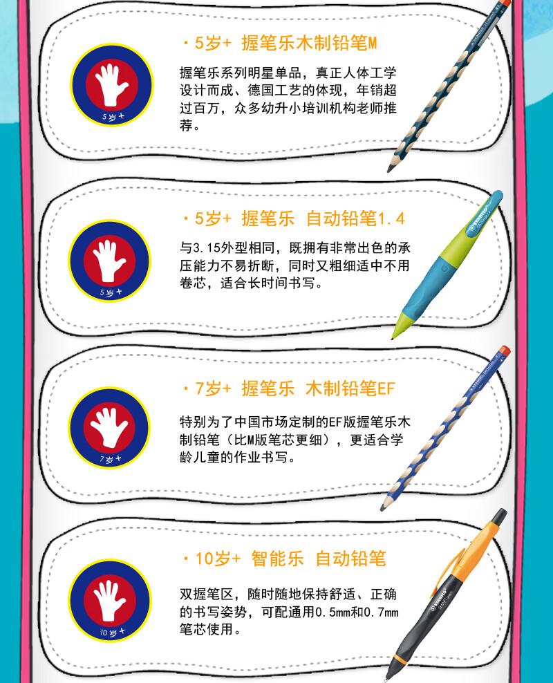 7612-思笔乐(STABILO)握笔乐自动铅笔 幼儿园小学生文具3.15mm自动铅笔不易断矫正握姿淡紫色送笔芯卷笔刀-详情图