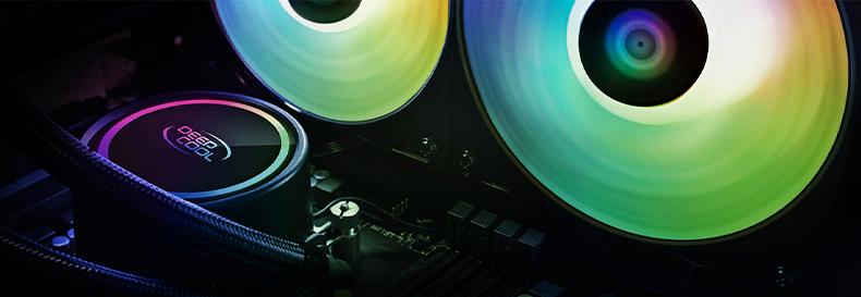 九州风神 DEEPCOOL 水元素240ARGB CPU水冷散热器(泄压冷排/一体式水冷/幻彩冷头/ARGB风扇)