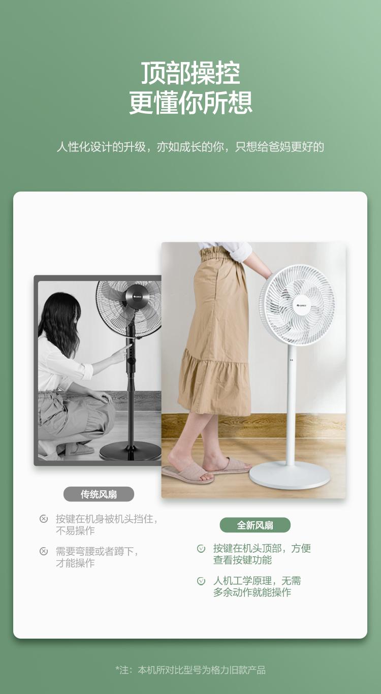 格力(GREE)7叶柔和大风量电风扇/家用低噪落地扇/新品电扇台扇/高颜值节能风扇 (FS-3015h7)