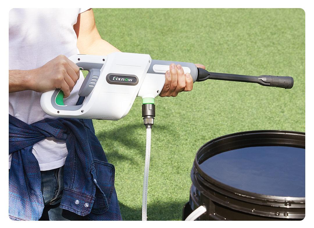 Fixnow 洗车水枪24V锂电手持无线高压洗车机洗车泵自助洗车神器洗窗户居家多用洗车机XYQX-300E