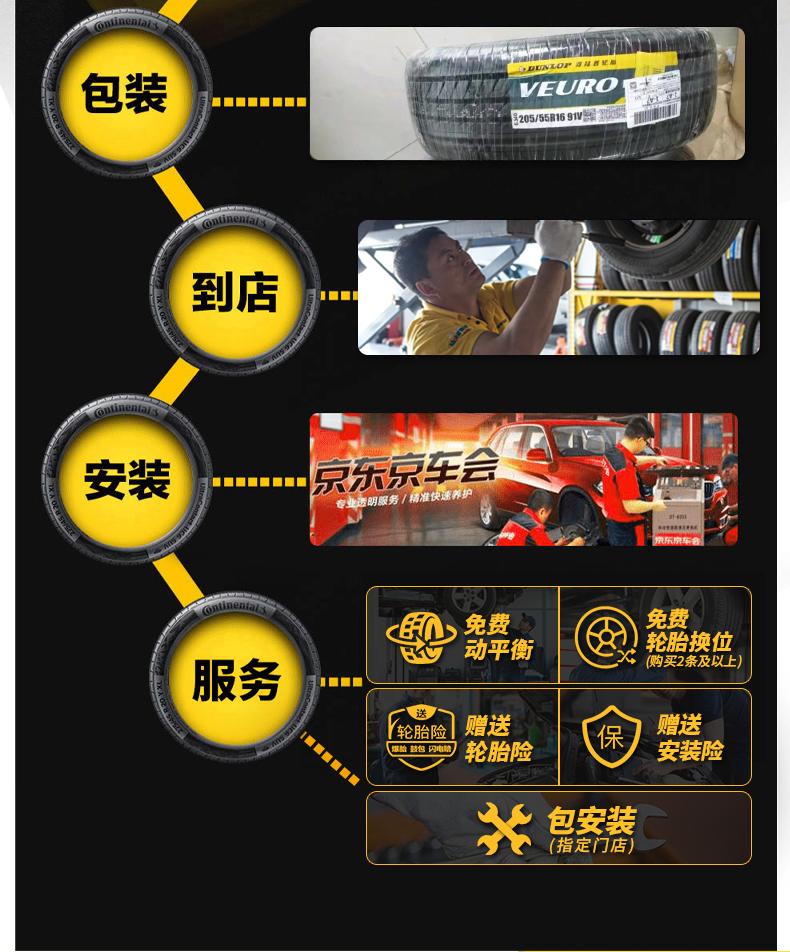 邓禄普轮胎Dunlop汽车轮胎 225/50R17 94W VE302 适配A4L/奔驰C级/雅阁/DS5/蒙迪欧/思铂睿/皇冠/标志3008