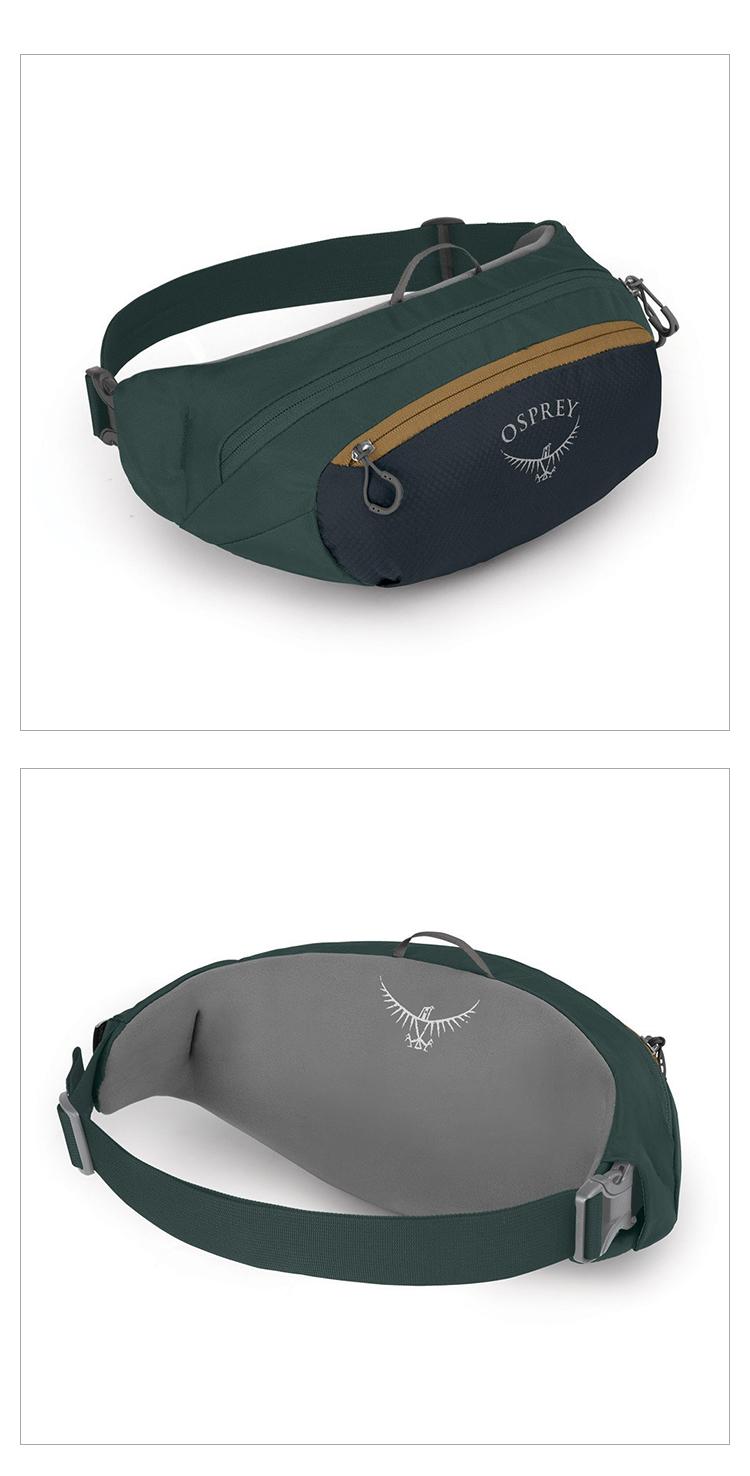 OSPREY 小鹰日光2升运动跑步腰包多功能防水登山跑步防盗隐形贴身手机包袋休闲户外DAYLITE WAIST 2 黑色
