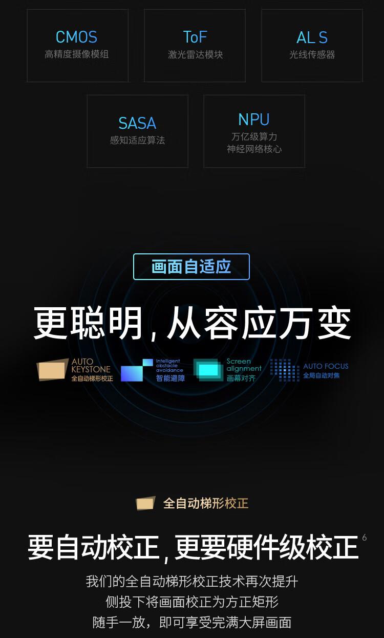 极米(XGIMI)H3S 投影仪家用 投影机 智能家庭影院 年度旗舰 哈曼卡顿专利音响 亮度提升
