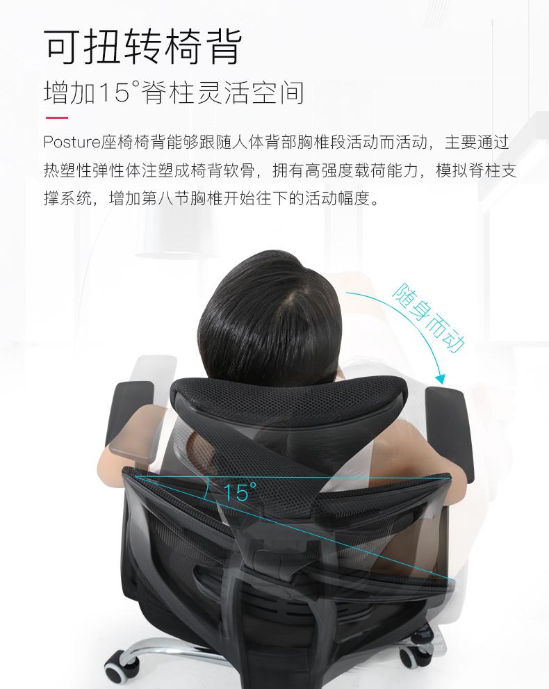 联丰(lianfeng)电脑椅人体工学椅办公椅家用转椅灰色X-12T