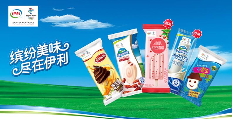伊利 小布丁奶油口味雪糕冰淇淋冰激凌冷饮 48g*18/盒