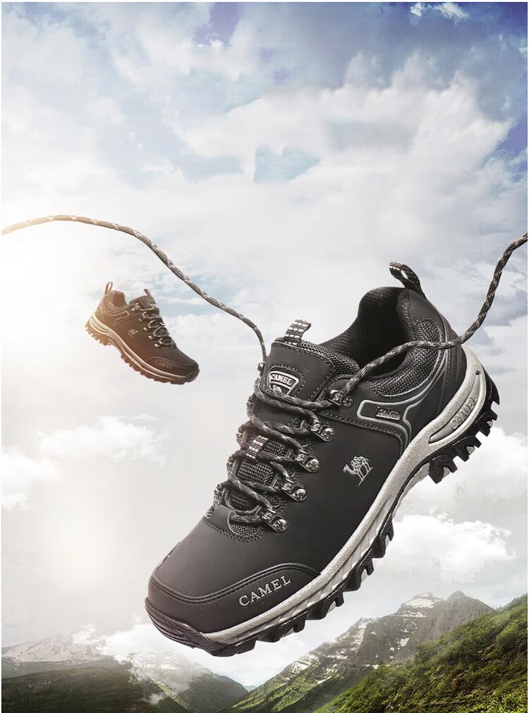 骆驼户外(CAMEL)户外登山鞋情侣抓地徒步鞋防滑爬山鞋男A942303505深灰/黑41