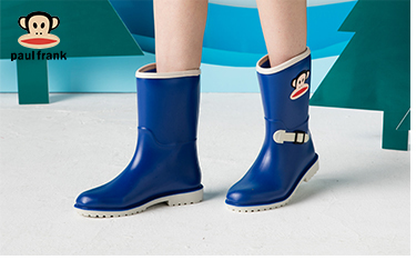 DRIPDROP 雨鞋中筒时尚萌宠防水雨靴胶鞋水鞋 P003 黄色 35码-京东