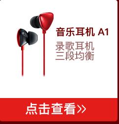 唱吧 A1音乐耳机 耳机入耳式 手机耳机 红色-京东