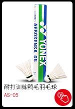 尤尼克斯YONEX羽毛球AS-05耐打yy训练鸭毛 12只装