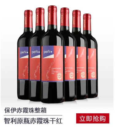 智利原瓶进口红酒 保伊赤霞珠干红葡萄酒6支整箱装750ml*...-京东