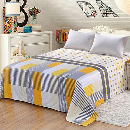 艾薇家纺 双人床单单件纯棉被单1.5床/1.8床230*250(别具一格)-京东