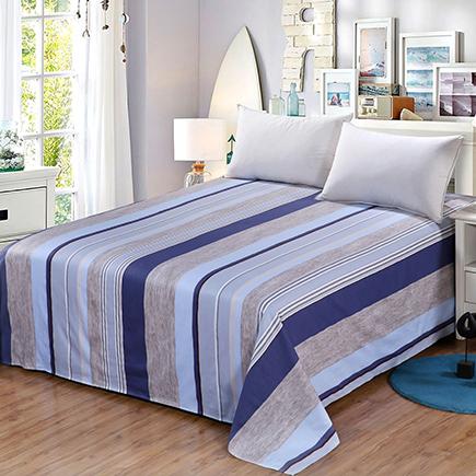 艾薇 床品家纺 单人床单单件纯棉加大床单1米/1.2米(米罗152*210)-京东