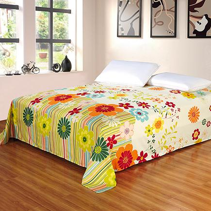 艾薇 床品家纺 双人床单单件纯棉被单1.5床/1.8床230*250(万象更新)-京东