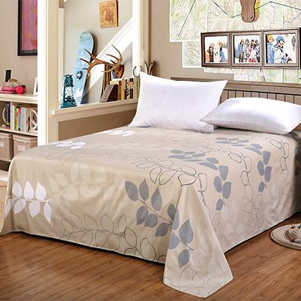 艾薇 床品家纺 全棉斜纹印花整幅 加大双人床单 帕米拉230*250CM-京东