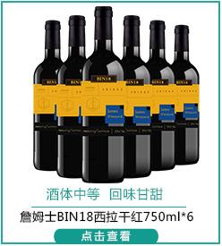 澳洲进口红酒 詹姆士酒庄 Bin18干红葡萄酒整箱套装750...-京东