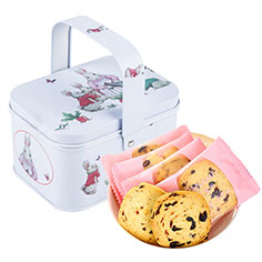 巴拿米 全麦蔓越莓曲奇西饼手提兔子铁礼盒手工休闲零食品80g-京东