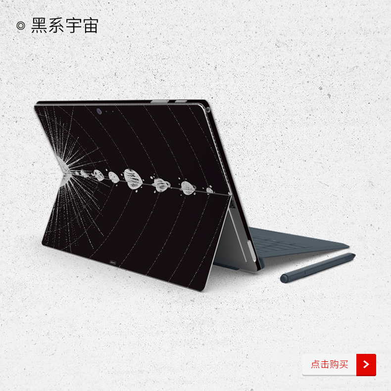 Dán surface  SkinAT Surface Pro Surface Pro 6 Galaxy - ảnh 5