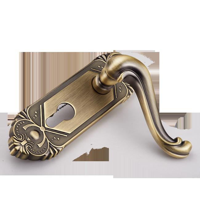 摩登五金(MODERN)室内房门锁卧室门锁青古铜双舌锁执手锁...-京东