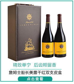澳洲进口红酒 詹姆士船长美露干红 750ml*2瓶 礼盒装-京东
