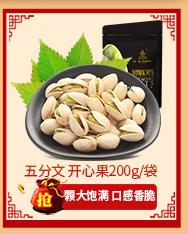 五分文 坚果炒货 休闲零食小吃每日坚果 原味开心果200g/...-京东