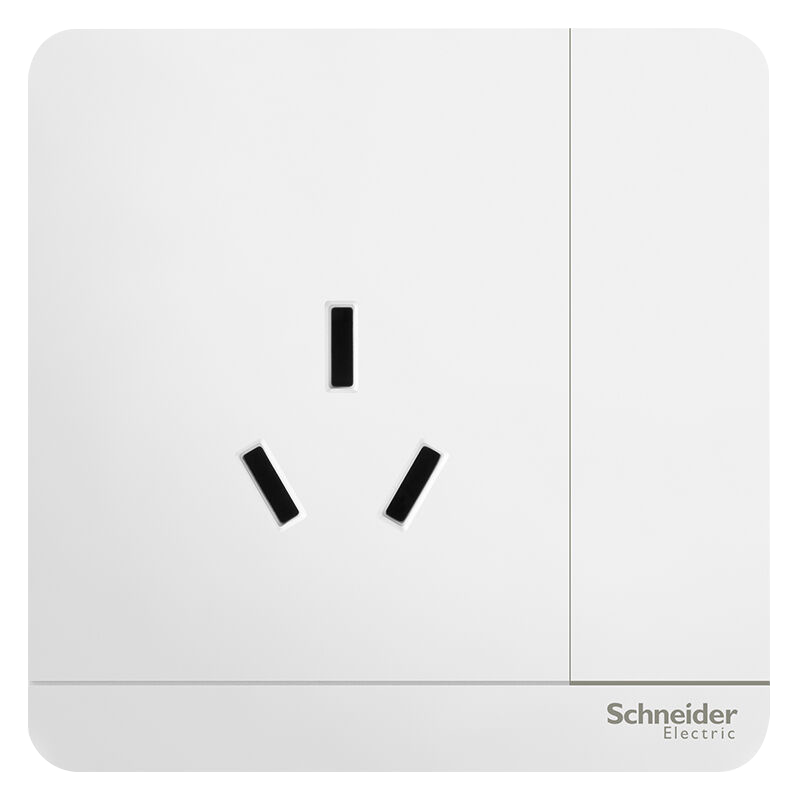 Schneider (Schneider) switch socket socket panel 16A three-hole air conditioning socket with a switch is still series mirror porcelain white - Jingdong