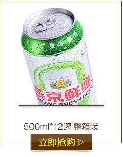 【京東超市】燕京啤酒 10度鮮啤聽罐裝 500ml 12聽整箱裝-京東