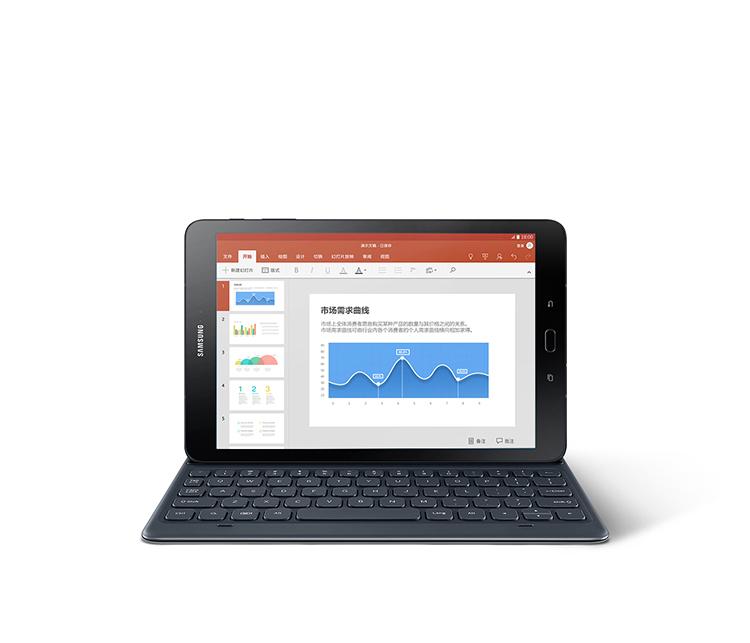 三星Tab S3 T825平板電腦 9.7英寸4G全網通商務(四核/AMOLED屏/4G/32G/6000mAh/6mm厚/S-Pen/指紋識別)睿智黑-京東