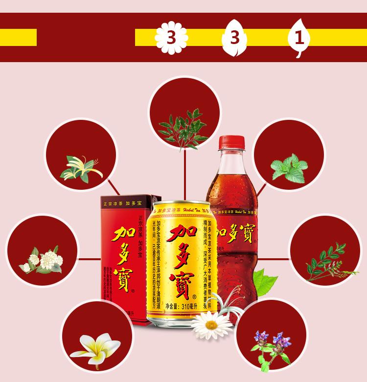 加多宝凉茶植物饮料盒装250ml*16 整箱-京东