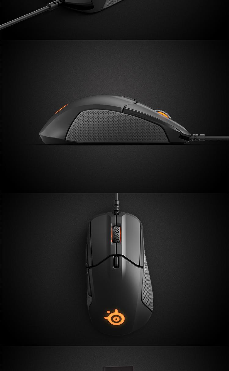 赛睿(SteelSeries)Rival 310 游戏鼠标 绝地求生吃鸡利器 一比一电竞传感器12000DPI-京东