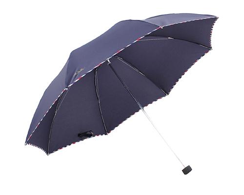 【京东超市】天堂伞 强力拒水一甩干三折钢伞 定制格子布包晴雨...-京东