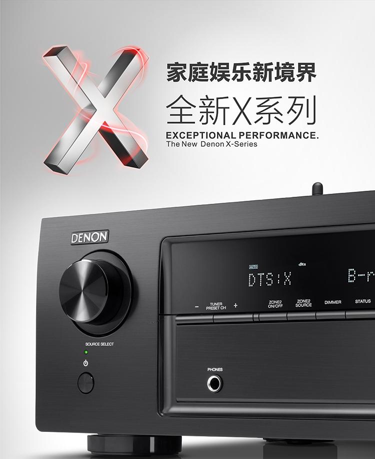 天龙(DENON)AVR-X1400H 音响 音箱 家庭影院功放 7.2声道 支持杜比全景声DTS:X 4K蓝牙USB WIFI Airplay Hi-res音频 黑色-京东