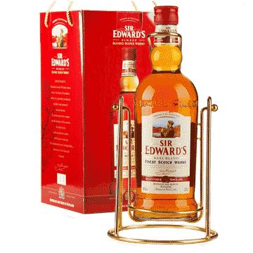 爱德华爵士威士忌摇架礼盒2L-京东