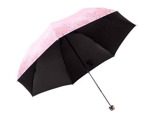 天堂伞 加大加固碰击布黑胶三折商务晴雨伞太阳伞 兰灰 331...-京东
