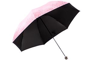 【京东超市】天堂伞 强力拒水一甩干三折钢伞 定制格子布包晴雨伞 深藏青 307E碰-京东