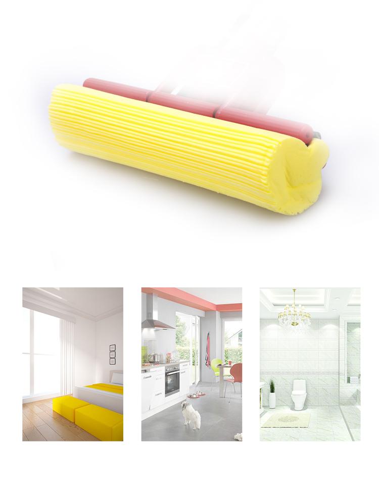 【京东超市】美的家 拖把 海绵拖把 胶棉拖把 滚轮式挤水 免手洗拖把-京东