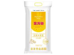 【京东超市】金龙鱼 面粉 高筋麦芯小麦粉5KG(产品包装:塑...