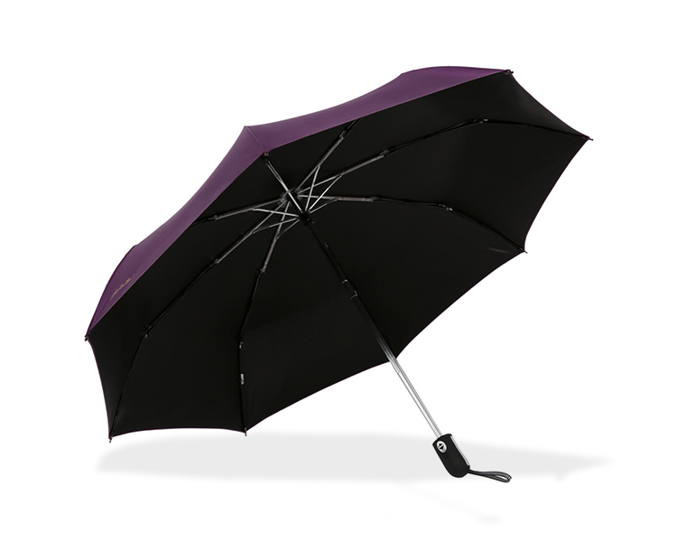 [Jingdong supermarket] Paradise umbrella since the opening (UPF50 +) Vinyl three fold sunny umbrella 3331E upgrade section deep purple - Jingdong