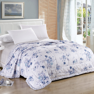 [Jingdong supermarket] Huakang textile cotton cotton quilt summer can be washed air-conditioned by the four seasons of pure cotton was 200 × 230cm dream flower - blue - Jingdong