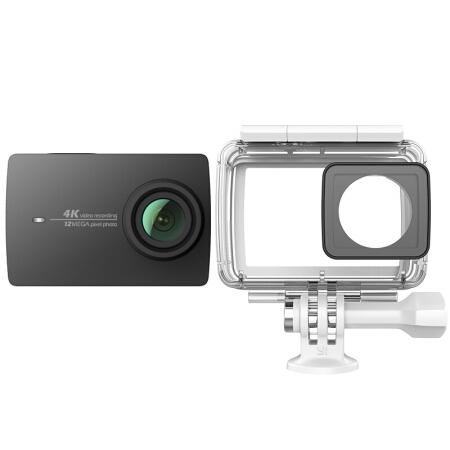 小蚁(YI)4K 运动相机(黑色)智能摄像机 潜水套装(相机+防水壳)-京东