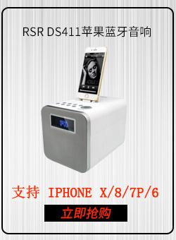 RSR DS411 苹果音响蓝牙家居音响 iPhone7/6s/ipad音响 手机底座音响 白色-京东