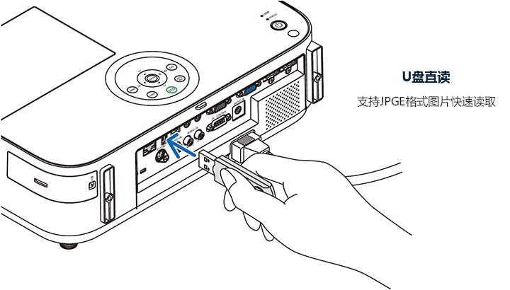 NEC NP-CD2115X 办公 投影机 投影仪(XGA分辨率 3300流明  双HDMI)-京东
