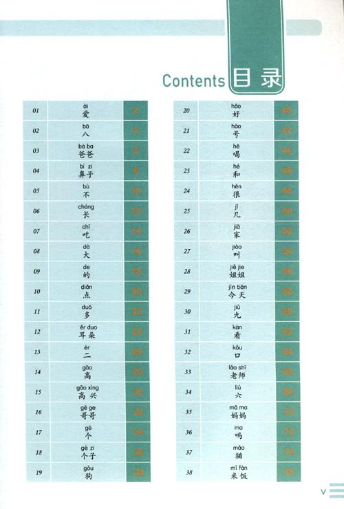 Table of contents: Graphic YCT Vocabulary (LevelⅠ) (ISBN:9787561955154)
