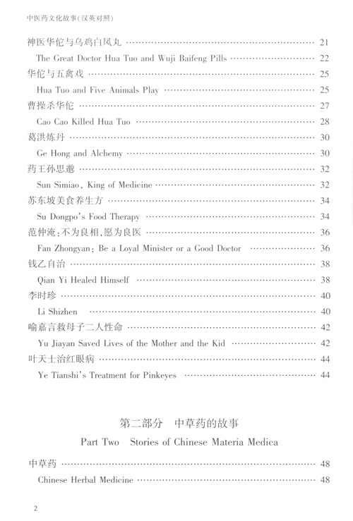 Table of contents: Legends and Folk Tales in TCM (A Chinese-English Edition) (ISBN:9787568916943)